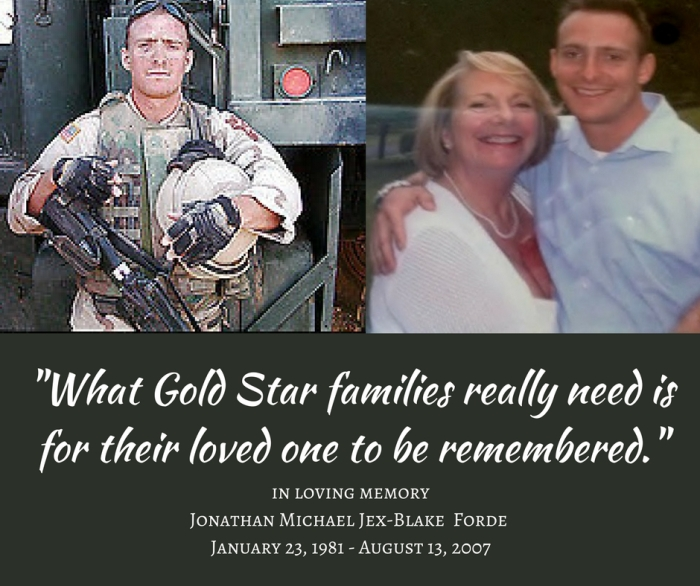 What Gold Star families really need is for their loved one to be remembered. (2)